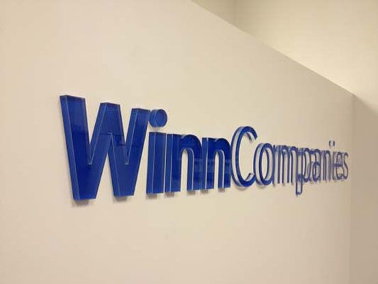 Dimensional Company Name Sign for Winn Companies in Rochester, NY