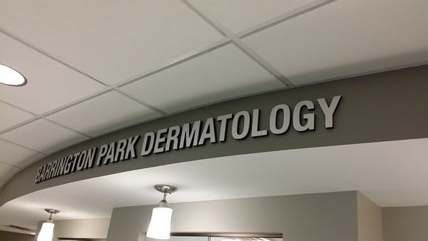 Doctors office dimensional letter interior signage Rochester NY