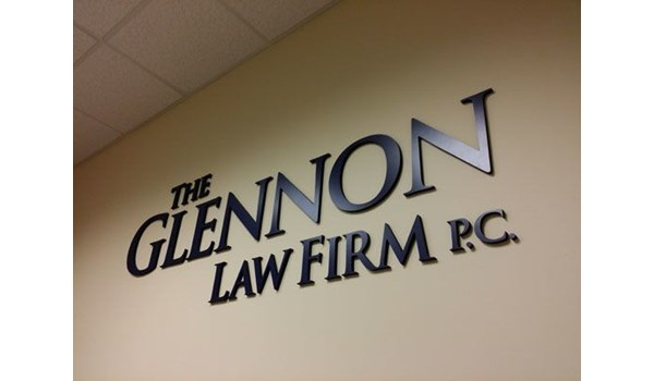 Law firm company logo wall graphic Rochester NY