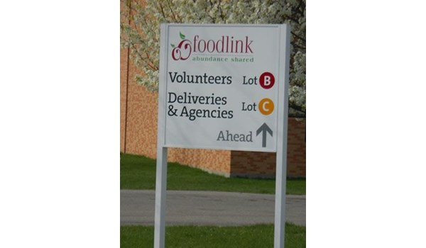 Outdoor Directional Signs Wayfinding solutions Foodlink Rochester NY