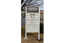 Post and Panel Sign-Gardens Shopping Center-Charlottesville Va