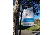 Custom Aluminum Hanging Sign and Post-St. John the Baptist Episcopal-Charlottesville Va
