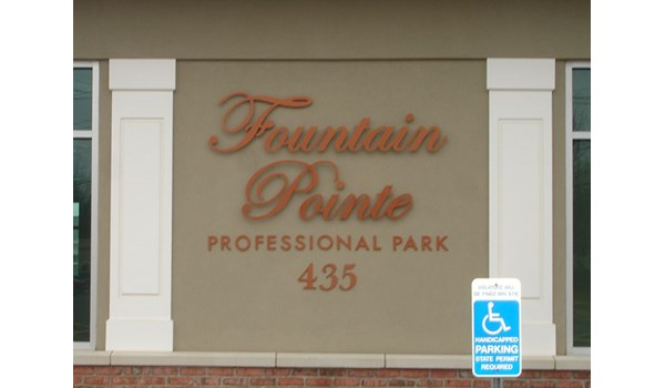 Dimensional sign lettering for Fountain Point Professional Park in Newington, CT