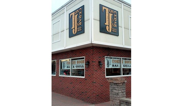 Exterior dimensional building sign for Tjs on Cedar in Newington, CT