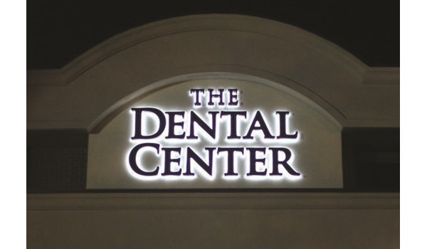 Halo Lit channel letters for The Dental Center in Newington, CT