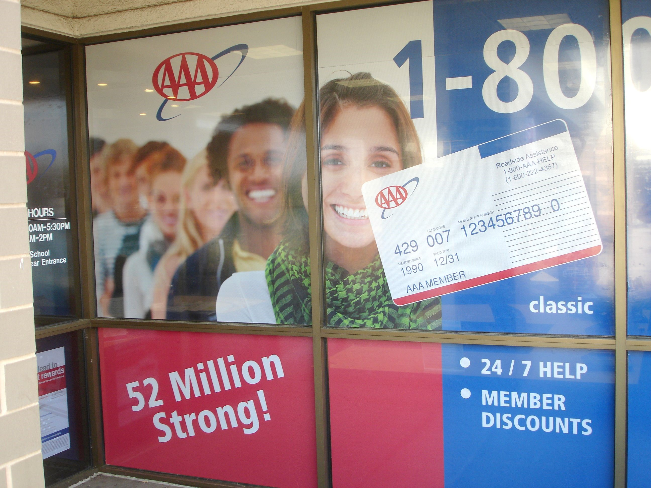 Window Graphics for AAA in Newington, CT