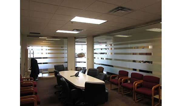 Privacy window vinyl for Norpaco in Middletown, CT.