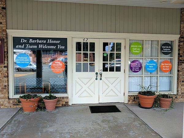 Vinyl window graphics for The Dental Center in Bloomfield, CT.