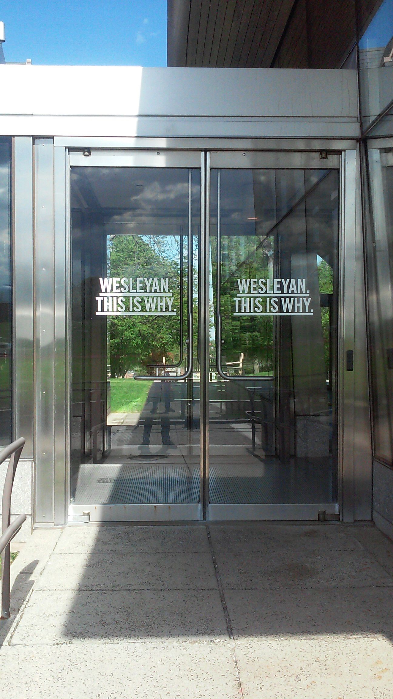 Window Graphics for Wesleyan in Middletown, CT