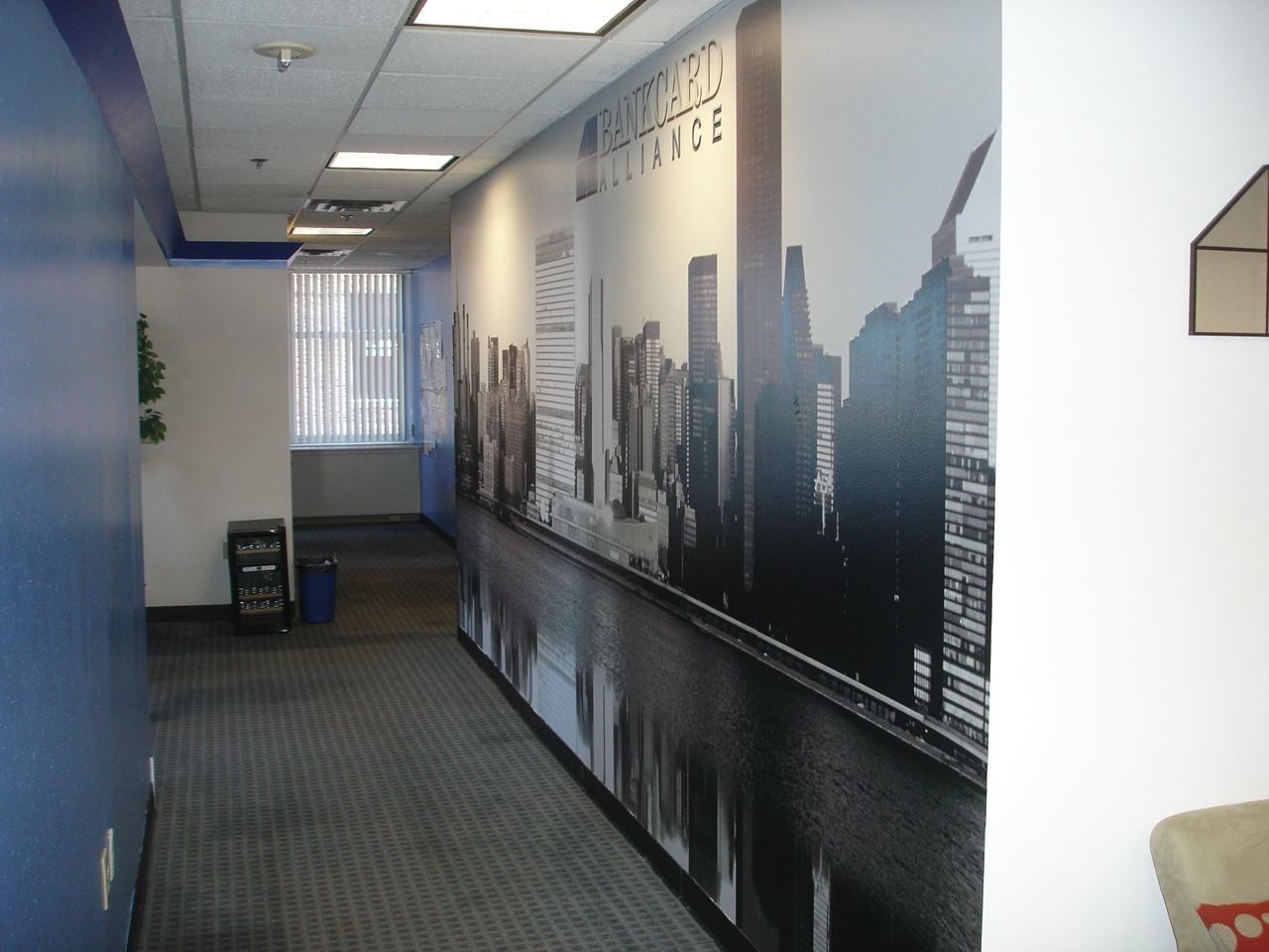 Wall mural for Bankcard Alliance in Newington, CT