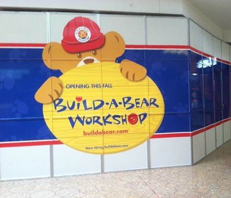Wall graphic for Build a Bear at the Westfarms Mall in Farmington, CT.