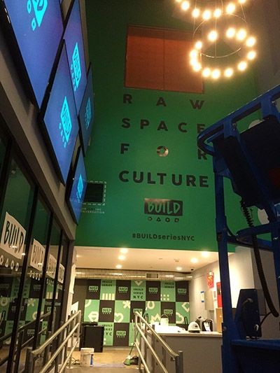 Vinyl wall lettering for Build Studio in New York, NY.