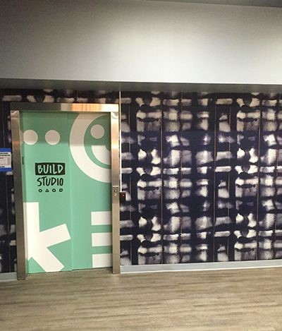Wall and elevator graphics for Build Studio in New York, NY.
