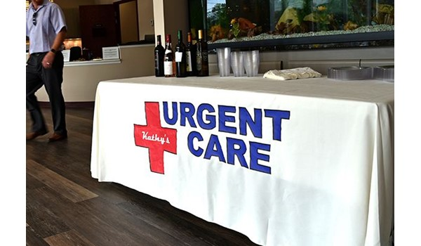Table throw for Kathys Urgent Care in Wethersfield, CT