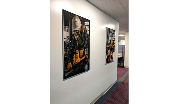 Fabric wall prints for DeWalt in Brewster, NY.
