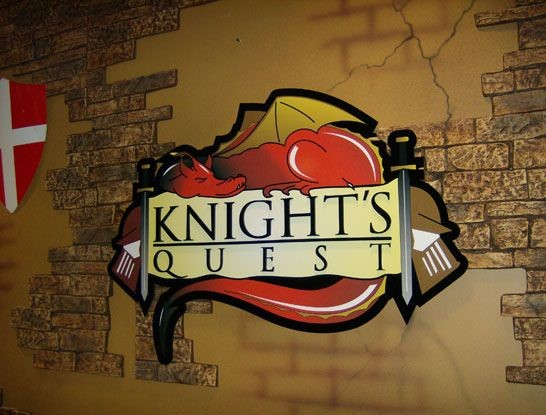 Knights quest wall graphic in Newington, CT