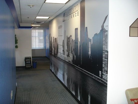 Bank card alliance wall mural in Newington, CT