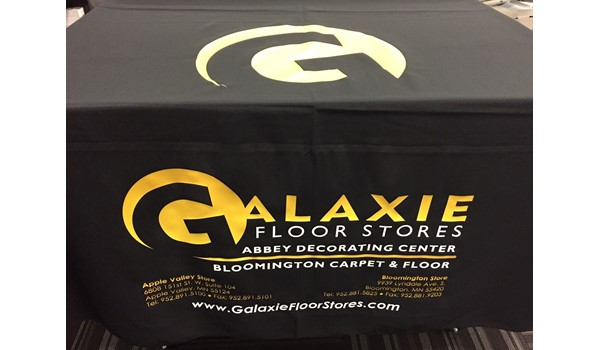 Exhibit, Tradeshow table cover, Galaxie Floor Covering, Apple Valley MN