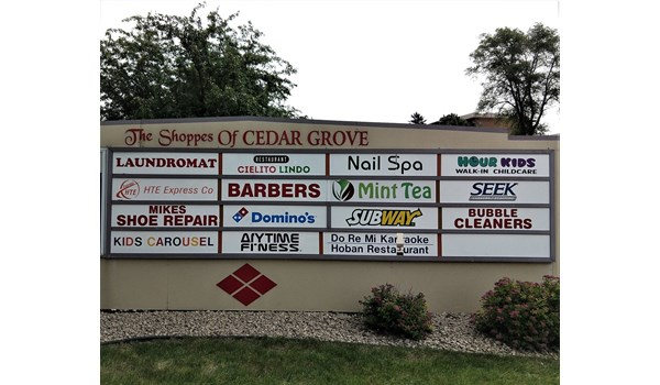 Monument signage for Cielito Lindo, Eagan, MN