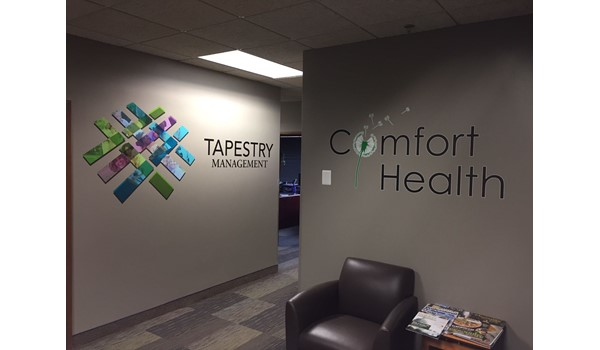 Vinyl Wall Graphics for Comfort Health & Tapestry Management in Bloomington MN