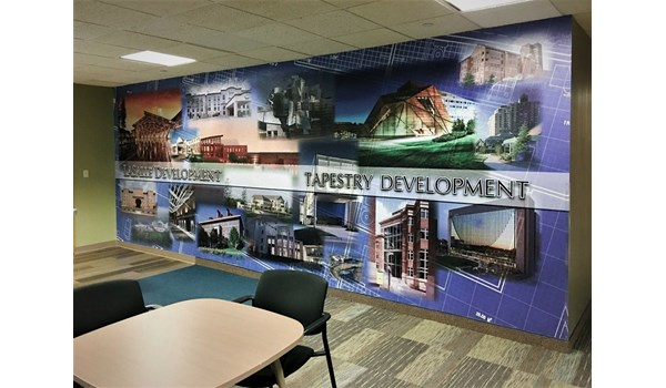 Vinyl wall graphics for LaSalle Group in Bloomington, MN