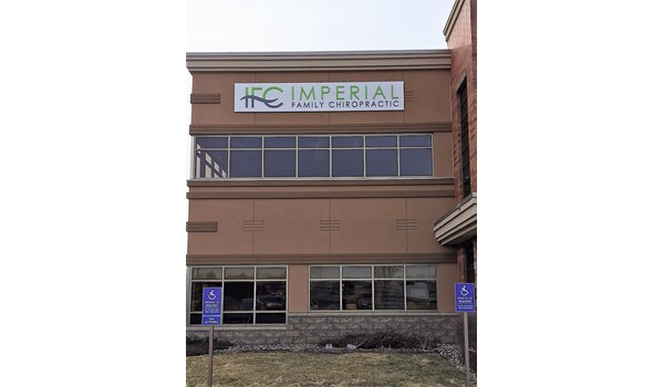 Building Sign Imperial Family Chiropractic, Farmington MN