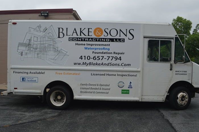 Partial Vehicle Wrap for Blake & Sons in Maryland