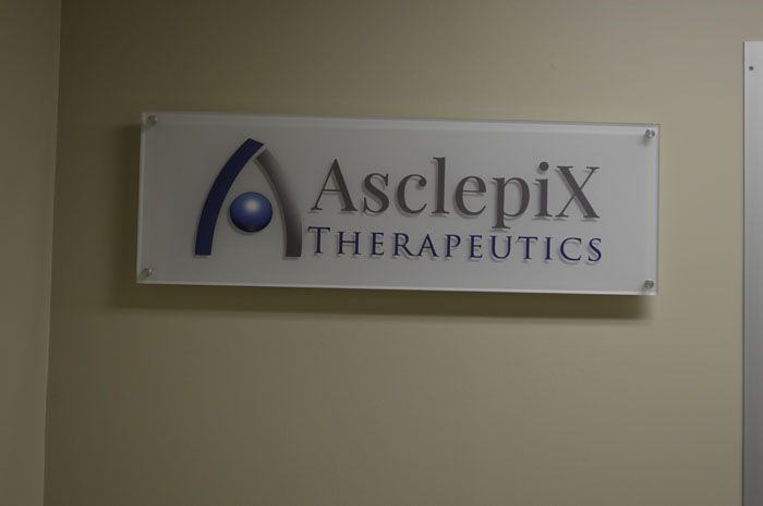 Acyrlic Lobby Sign for Asclepix in Baltimore, MD
