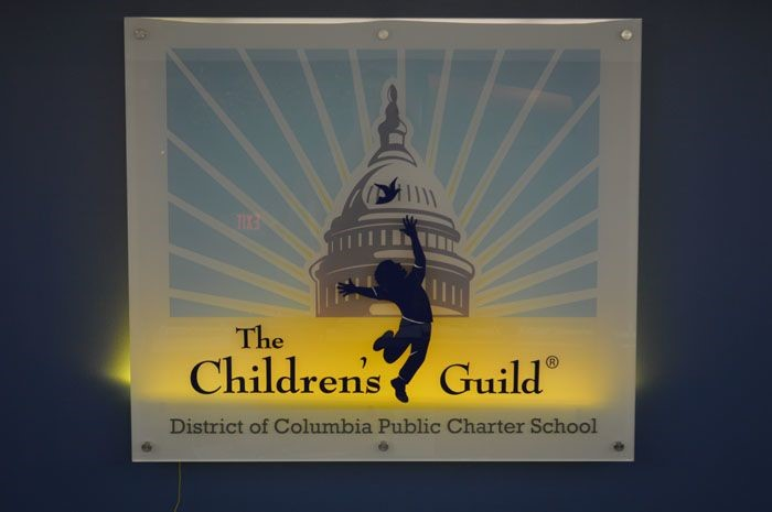 Lobby Sign with LED Backlight for Childrens Guild in Washington, DC