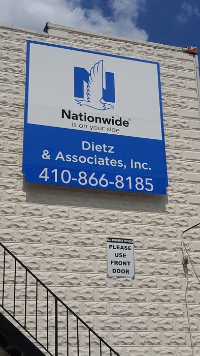 Building Sign Updates for Nationwide Insurance in Rosedale, MD
