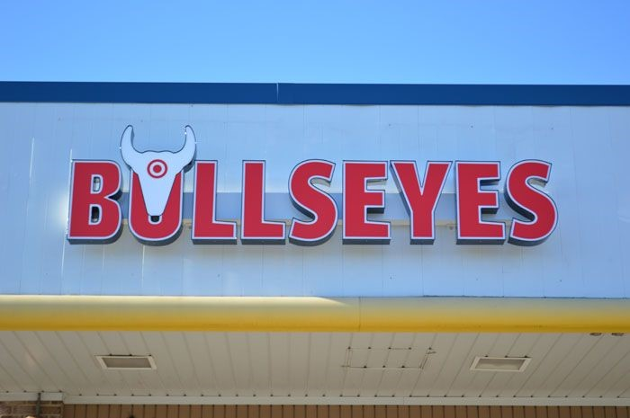 Channel Letters on Raceway for Bullseyes BBQ in Overlea, MD
