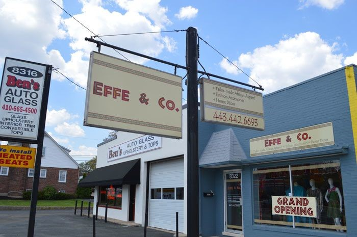 New Storefront Signs for Effe & Co in Parkville, MD