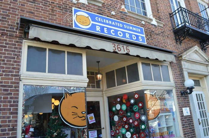 Store Front Sign for Celebrated Summer Records in Hampden, MD