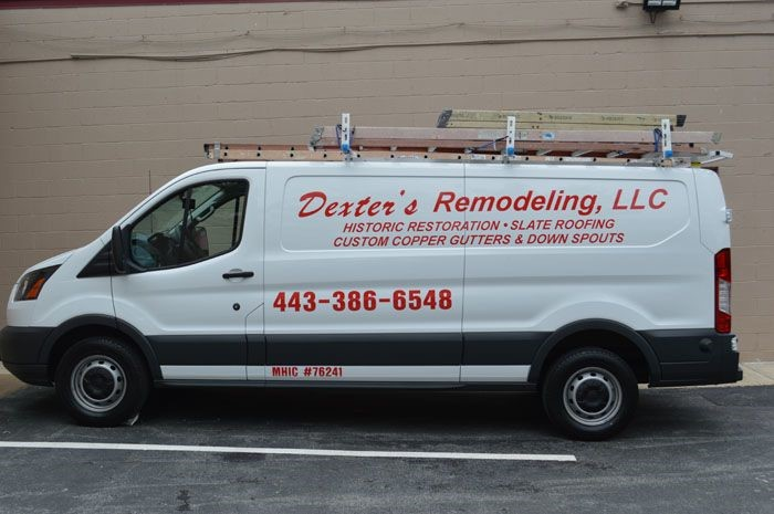 Vehicle Lettering for Dexters Remodeling in Baltimore, MD