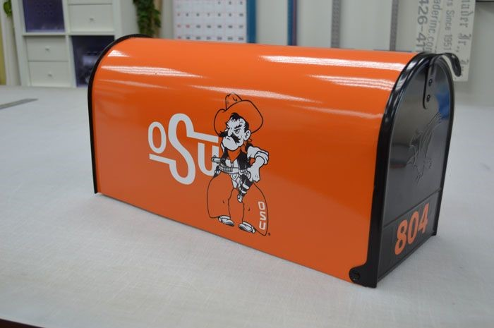 Custom Mailbox Wrap for Oklahoma State College Alumnus in Baltimore, MD