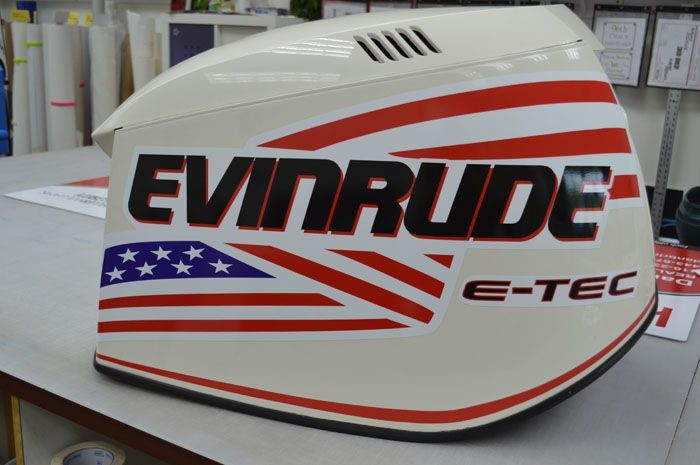 Evinrude Boat Engine Decals in Baltimore, MD