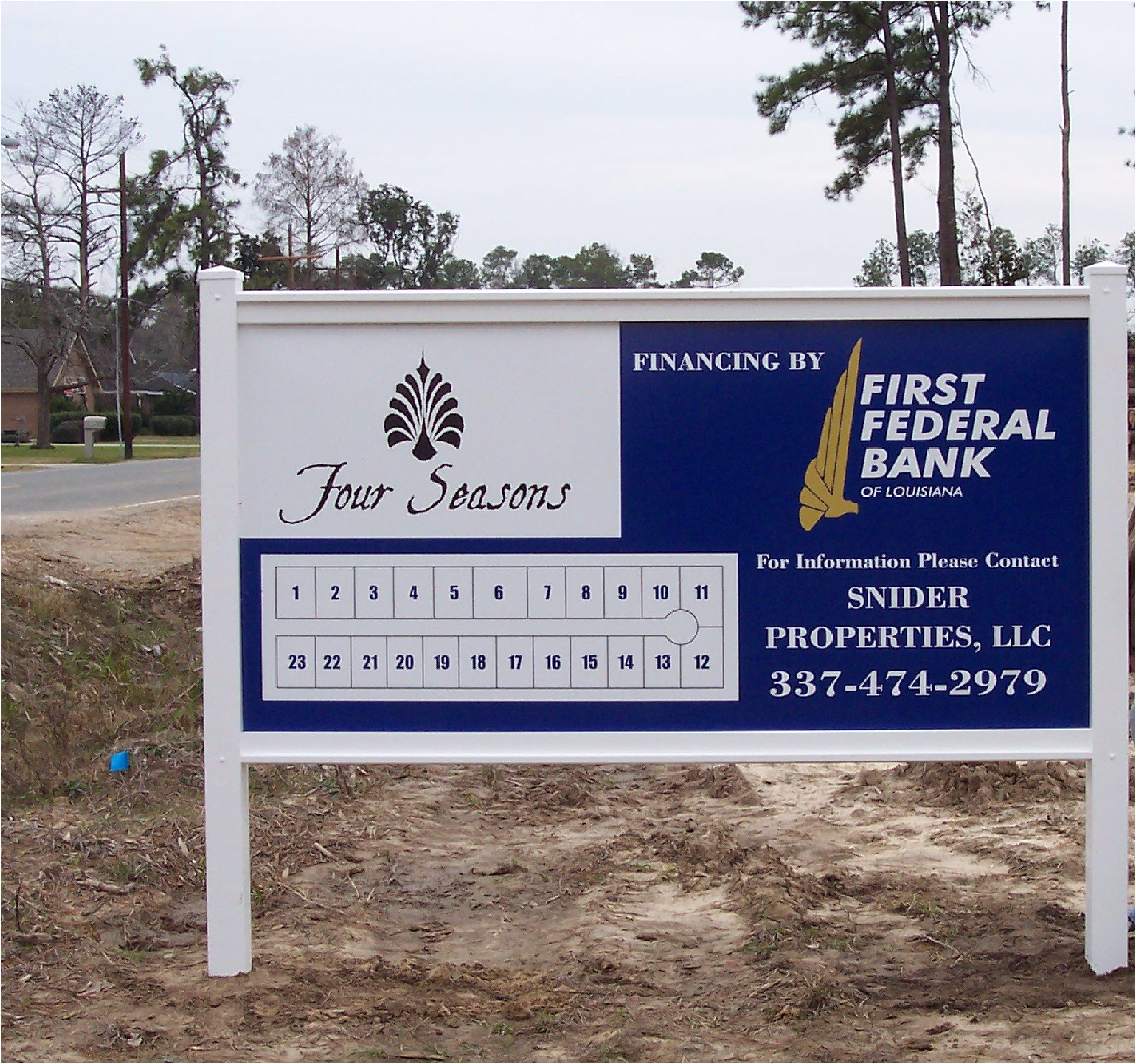 Four Seasons Post and Panel Signage in Lake Charles, LA