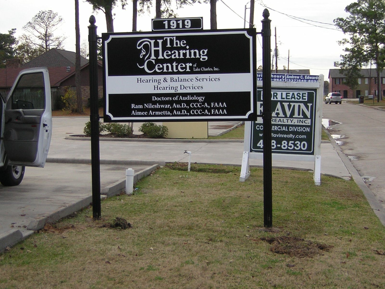 The Hearing Center Post and Panel Signage in Lake Charles, LA