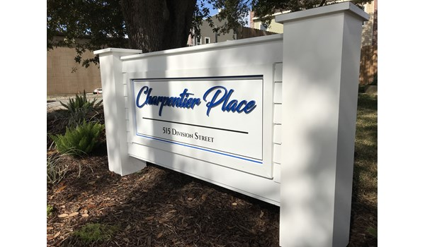 Charpentier Place Sign lake Charles