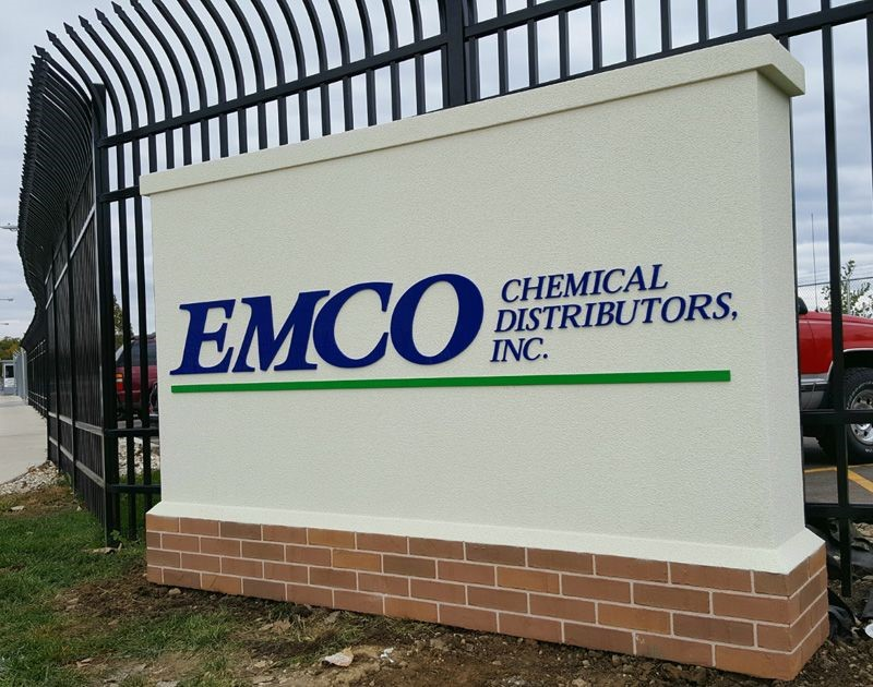 Monument Sign EMCO Chemical