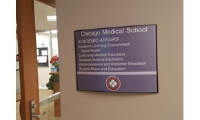 Reception Area Signs for Chicago Medical School