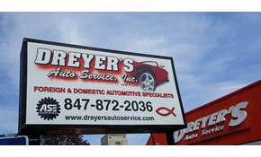 Dreyer's Auto Service Sign and Windows Update