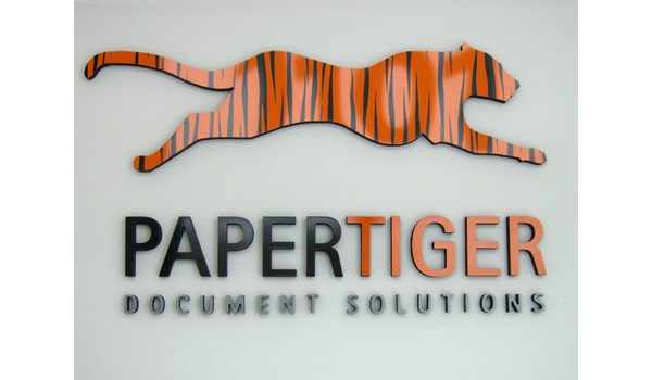 3D logo graphic on entry wall in Gurnee IL