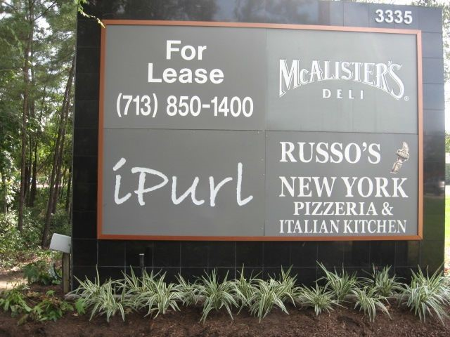 The Woodlands Lighted Monument Exterior Signage - Multi Tenant