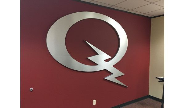 Interior Logo and Reception Custom Signage for Houston Business
