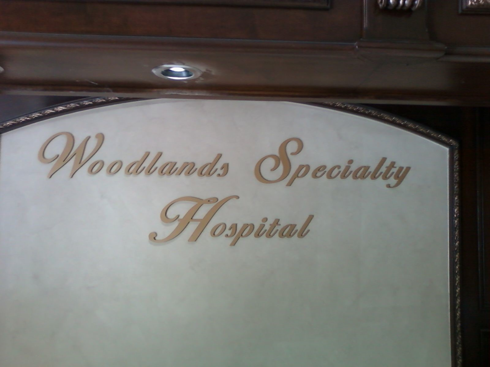 Specialty Hospital in The Woodlands interior signage
