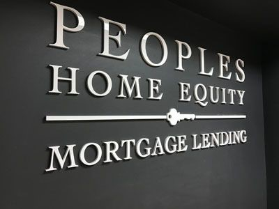 Acrylic letters for Peoples Home Equity