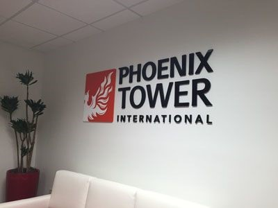 Acrylic logo for Phoenix Tower
