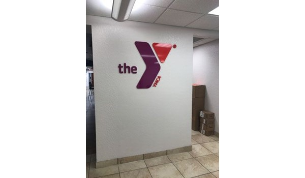 Acrylic logo for the YMCA