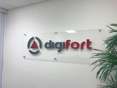 Acrylic signage for Digifort